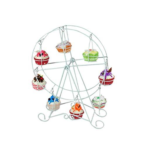 BESTONZON 8 Tassen Kuchen Riesenrad Ständer Cupcake Halter Dessert Serviertablett für Party Geburtstag Hochzeit (Eisen)