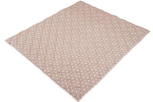 Beige Fliesen-böden Legen (IDEENREICH Baby Krabbeldecke Krabbeltraum| Sterne beige| RUTSCHFEST | 130x150cm | ideal als Spieldecke, Krabbeldecke und Laufgittereinlage)