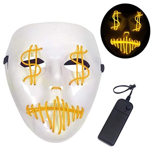 Leuchte Maske Mode Lustige LED Maske Kostüm Maske zum Valentinstag (Lustige Halloween-kostüme 2 Personen)
