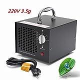 220V 3500mg Industrial Ozone Generator Air Purifier Mold Mildew Odor Remover Black