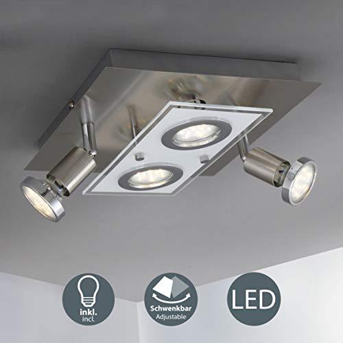 B.K.Licht - Lámpara plafón LED forma cuadrada 4
