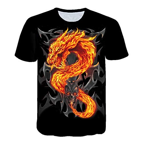 6d9d95e7702cd Selou T-Shirt a Maniche Corte Stampata 3D da Uomo T-Shirt a Maniche