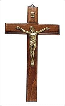 Biblegifts Croix 30/cm /à suspendre murale en bois Bois naturel J/ésus culte Symbole chr/étien Cadeau /Église Home Office