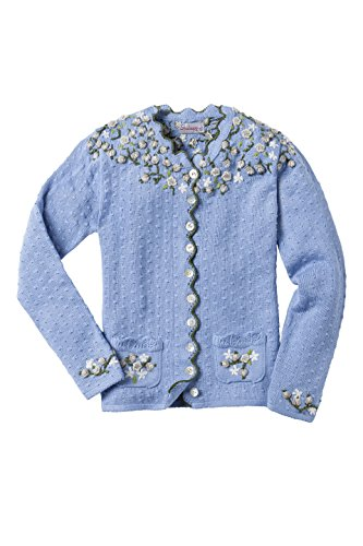 Stockerpoint - Damen Trachten Strickjacke, Hilda, Größe:44;Farbe:Hellblau