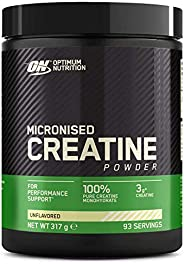 Optimum Nutrition Creatina Monohidrato Micronizada, Creatina en Polvo, Suplementos Deportivos para Rendimiento