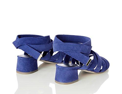 FIND Damen Riemen-Sandalen mit Absätzen Blau (Blue)
