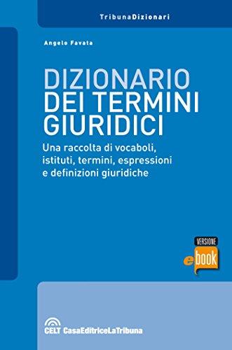 Dizionario dei termini giuridici (I dizionari)