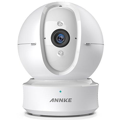 Annke 1080P Caméra de Surveillance sans Fil Panoramique – Caméra Ip WiFi pour la Surveillance – Caméra de Sécurité Audio Bidirectionnel Clair, Vision Nocturne Etonnante Nouveauté Prime Day