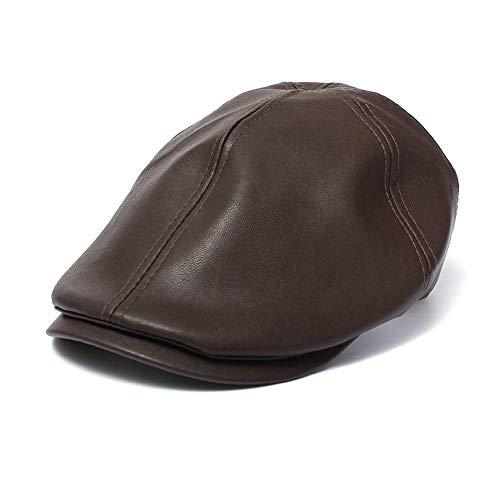 Unisex Hut,Oliviavan Herren Damen Vintage Leder Barettmütze Schirmmütze Newsboy Sonnencreme...