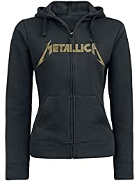 Metallica Hetfield Iron Cross Guitar Capucha con Cremallera Negro