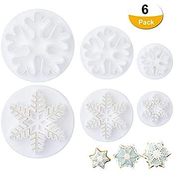 Flocon de neige noël cookie cutter métal poli clay découpe-pack 4