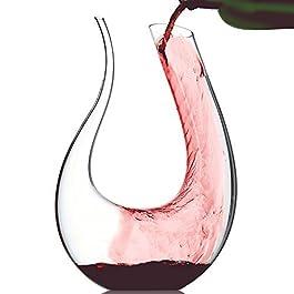 Doctor Hetzner Decanter 1200ml, Caraffa da vino, Decantatore di vino Aeratore, Decanter von per vino rosso, vino, regalo…