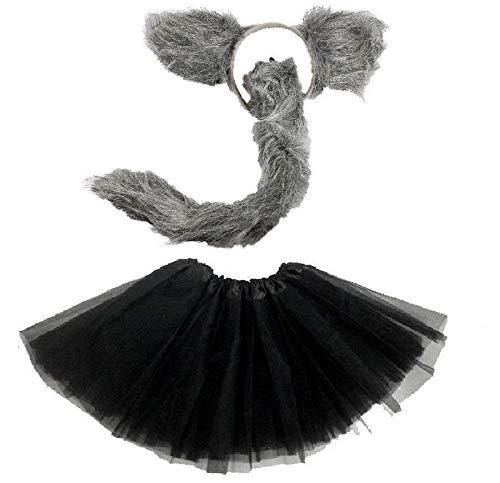 der oder Damen Kostüm Set - Wolf Tutu Costume - vetrieb durch ABAV (Komplett Set Damen) ()