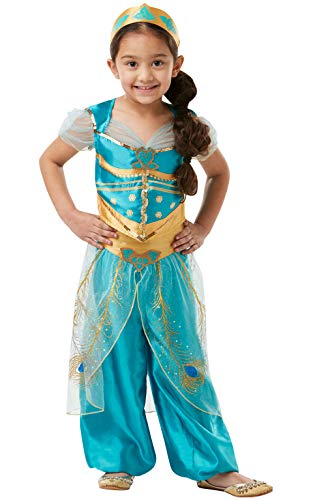 Rubie's Offizielles Disney Live Action Aladdin, Jasmin Kinderkostüm (Jasmin Fancy Dress Kostüm)