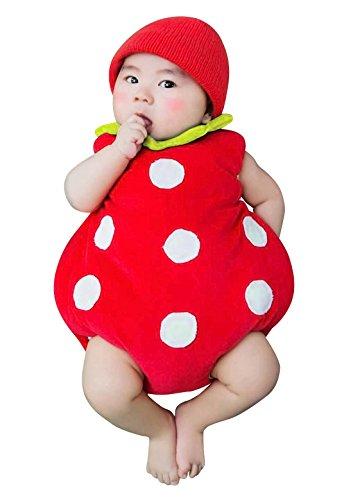 Happy Cherry Neugeborenes Baby Erdbeere Figur Foto Kostüm -