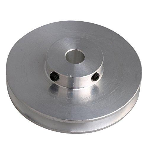 bqlzr 58x 16x 8mm Silber Aluminium Legierung Single Groove 8mm Feste Bohrung Pulley für Bohren Maschine 3–5mm PU rund Gürtel