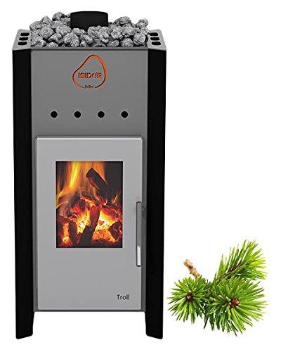 ISIDOR Premium Gartensauna Ardor Holz- Saunaofen Troll mit 7,8 kW Heizleistung; 4,1m² großem Saunaraum inkl. Sauna-Innenausstattung auf Insgesamt 17,9 m² Gebäudefläche
