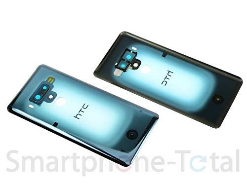 HTC U12+ Back Cover Gehäuse Akku Deckel Schale Glas inkl. Kameralinse, Translucent Blue blau Back Cover Gehäuse