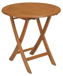 Strathwood basics table de jardin pliante style bistro en bois dense jardin - Amazon table de jardin ...