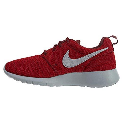 Nike Roshe Run (GS) Scarpe da Corsa, Bambina Dark Team Red Grey