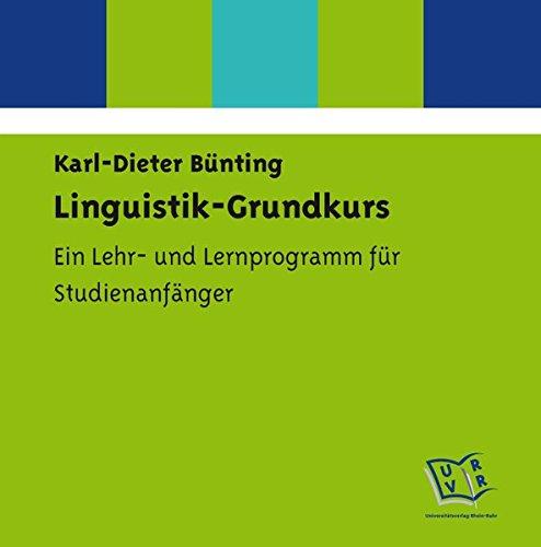 Bünting, K: Linguistik-Grundkurs