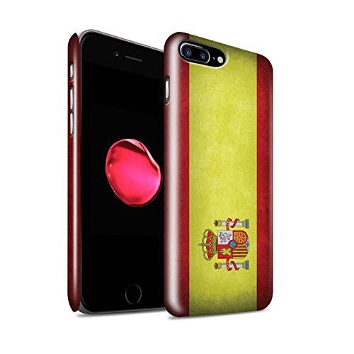 STUFF4 Glanz Snap-On Hülle / Case für Apple iPhone X/10 / Griechenland/Griechisch Muster / Flagge Kollektion Spanien/Spanische