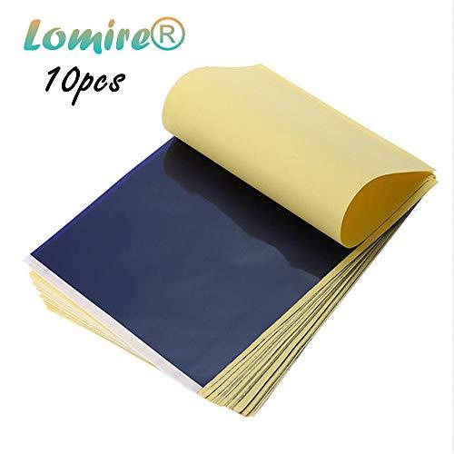 Lomire 10 Blatt Tattoo Papier Transferpapier Kohlepapier din A4 Matritzenpapier Pauspapier Schablone Selberdrucken