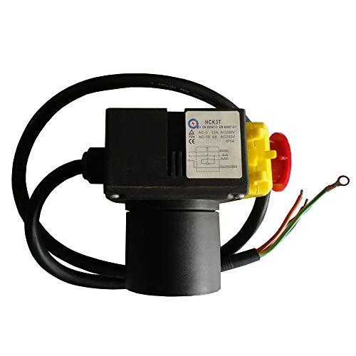 HCK3T 250V 13 / 6A imprägniern verdrahtete elektromagnetische AN-AUS Druckknopf-Schalter-Notaus-Knopf-Schalter mit Überlastschutz UVLO für Werkzeugmaschinen-Ausrüstungs-Holz-Teiler