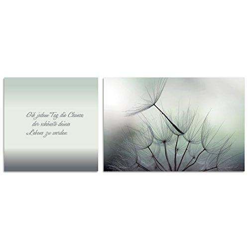 Cuadros Lifestyle Wand-Deko   Leinwand Bild   Lyrics Collection   2-tlg. Set mit Verschiedenen Motiven und Sprüchen