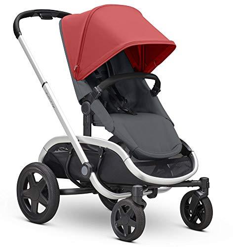 Quinny Hubb Mono XXL Shopping-Kinderwagen, großer Einkaufskorb, einfach klappbarer Kinderwagen, 6 Monate bis 3,5 Jahre, Rot On Graphite