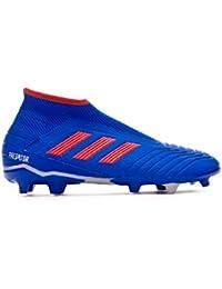 reputable site dc41a b9e5b adidas Predator 19.3 FG Laceless, Bota de fútbol, Bold Blue-Active Red-