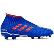 adidas Predator 19.3 FG Laceless, Bota de fútbol, Bold Blue-Active Red-