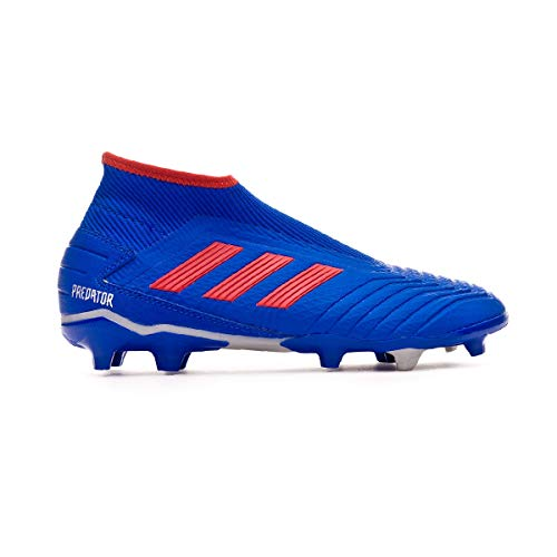 6be5d55aa adidas Predator 19.3 FG Laceless, Bota de fútbol, Bold Blue-Active Red-