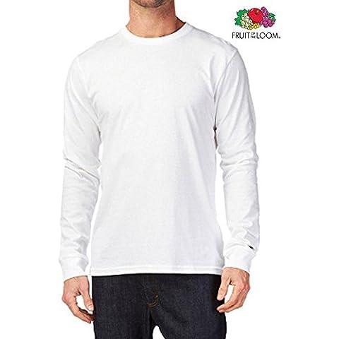 Tshirt maniche lunghe SEMPLICE DELLA FRUIT OF THE LOOM DI ALTA QUALITA' - Tutte le taglie by tshirteria