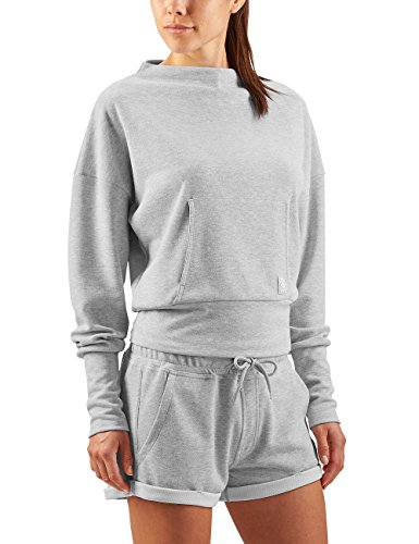 Skins Activewear Womens Wireless Sport Polaire Crew Neck Top - SS18 Grey