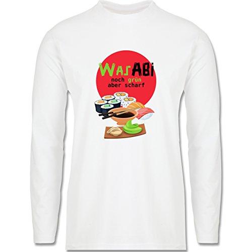 Abi & Abschluss - WasABI - noch grün aber scharf - Longsleeve / langärmeliges T-Shirt für Herren Weiß
