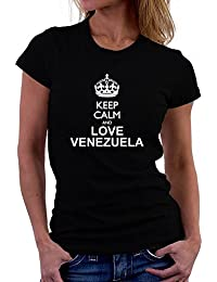 Teeburon Keep calm and love Venezuela Camiseta Mujer