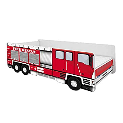 Toddler Children Kids Bed FIRE Truck + Mattress Bed Frame Rescue (140x70)