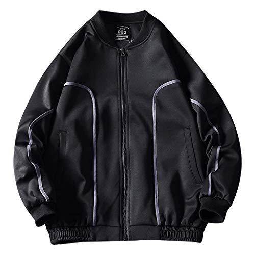 Kostüm Burton - Herren Lässige Einfarbige Slim Jacke Werkzeug Mantel, Männer Herbst Lässige Mode Reine Farbe Patchwork Dünne Jacke Reißverschluss Mantel Tops