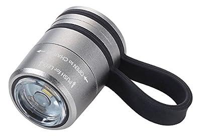 TROIKA ECO RUN – TOR90/TI – Taschenlampe – ideal beim Joggen – Sport- und Sicherheitslicht – mit Magnet zur Befestigung, weißes LED-Licht – 2 Lichtstärken + Blinklicht – TROIKA-Original