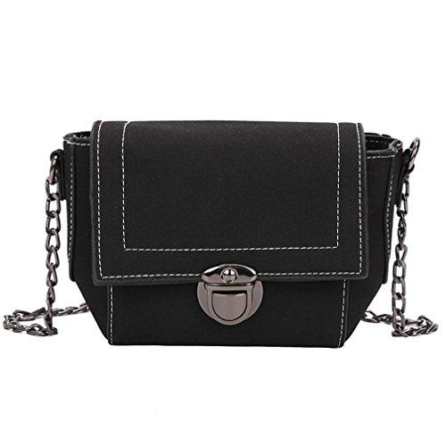 BZLine® Frauen Mädchen Clutch Schultertasche Handtaschen Crossbody Taschen Schwarz