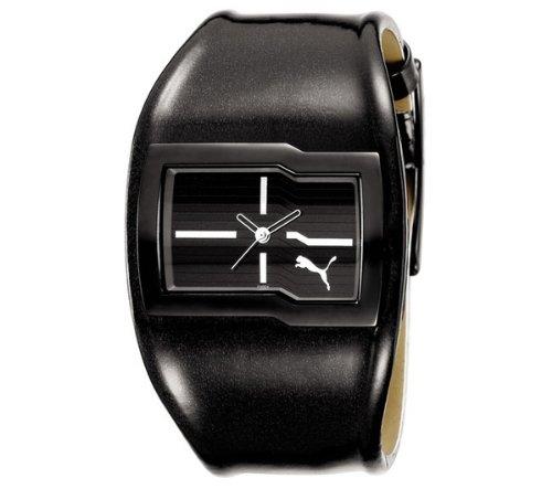 Puma Time Time PU101492002 - Reloj para mujeres, correa de cuero color negro