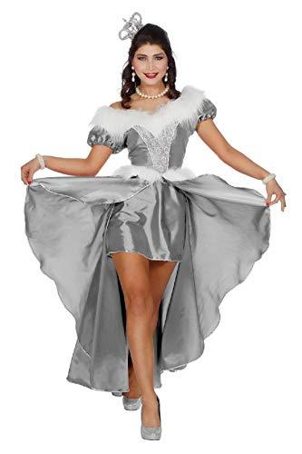 Eisprinzessin Damen Kostüm - narrenkiste W4462-B-52 Silber Damen Rokoko Kostüm Schneekönigin Eisprinzessin Gr.52