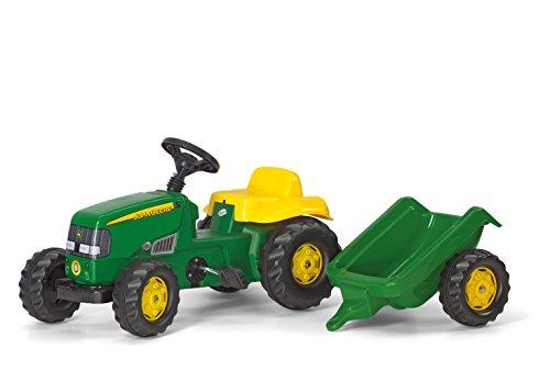 rolly-toys-12190-trattore-a-pedali-kid-john-deere-con-rimorchio
