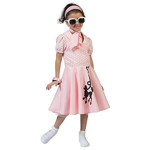 l Kleid Pink (L) Kinder Alter 7–9Jahre (Pudel-rock-kostüm Für Kinder)
