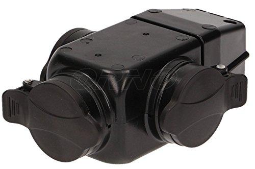 3-Fach Verteiler Schuko Stromadapter Mechfachsteckdose ohne Kabel Multistecker