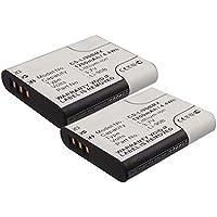 2x subtel® Batterie premium pour Olympus Stylus Tough TG-4 TG-1 TG-2 TG-3 TG-5 TG-Tracker, Stylus SH-1 SH-2 SH-50 SH-60, Stylus SP-100ee, Stylus XZ-2, Stylus Traveler SH-2 (1200mAh) Li-90B, Li-92B Batterie de rechange, Accu remplacement