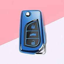 FUBULECY Funda Protectora Suave de TPU Funda Protectora para Toyota Flip Key Fob, Control Remoto
