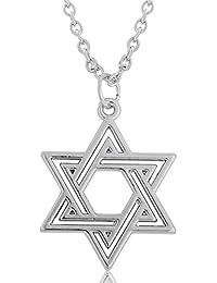Chakra Silber Kabbala Stern von David Anhänger Silber Farbe Anhänger