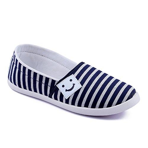 9fc7d2be7689e Asian shoes Amy-91 Blue White Women Canvas Shoes - itsmediator